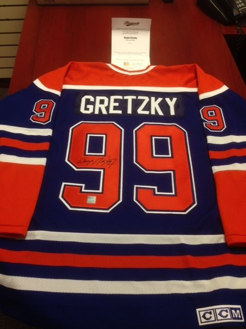 best website ac3f3 3b7c5 shop wayne gretzky career jersey signed ltd ed 99 edmonton ...
