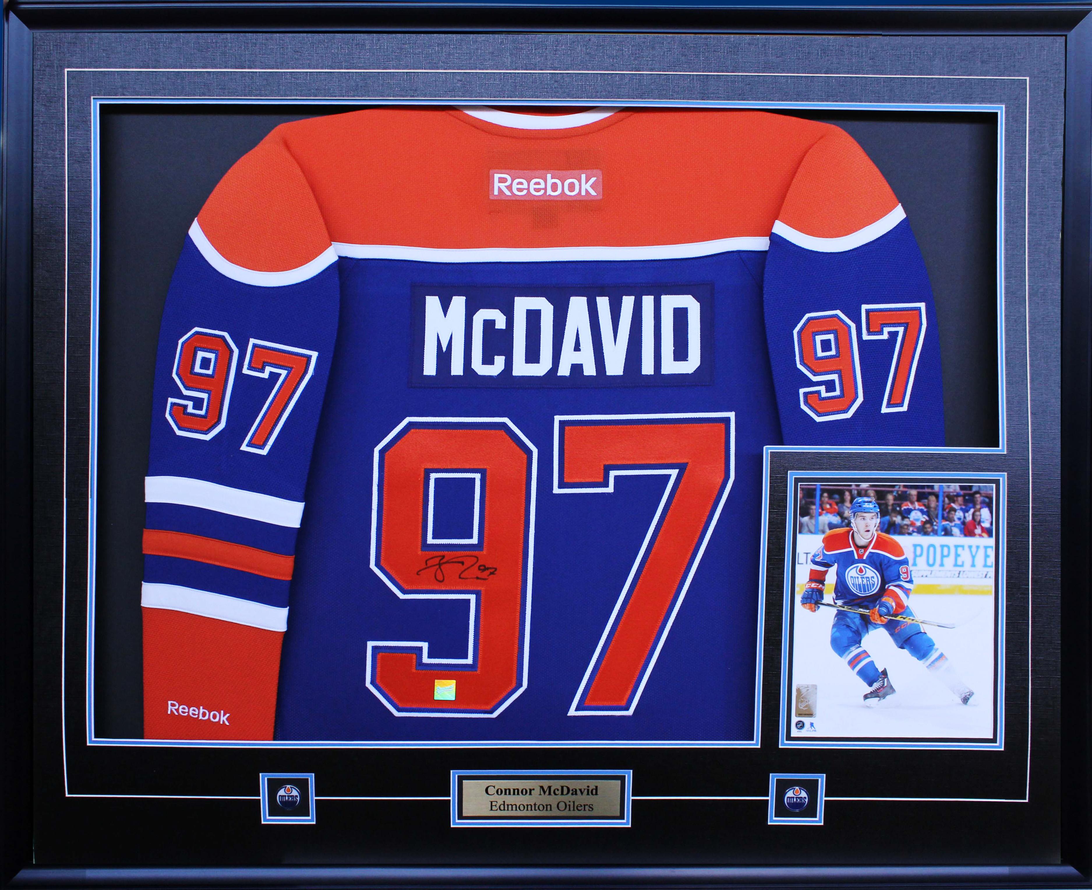cheap for discount fabd3 0d65a Item Detail - Connor McDavid - Signed & Framed Edmonton ...