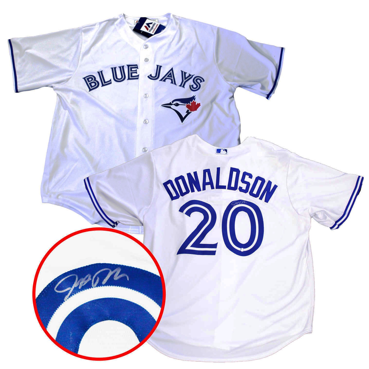 2fea6f1a Lot Detail - Josh Donaldson - Signed Toronto Blue Jays White Jersey