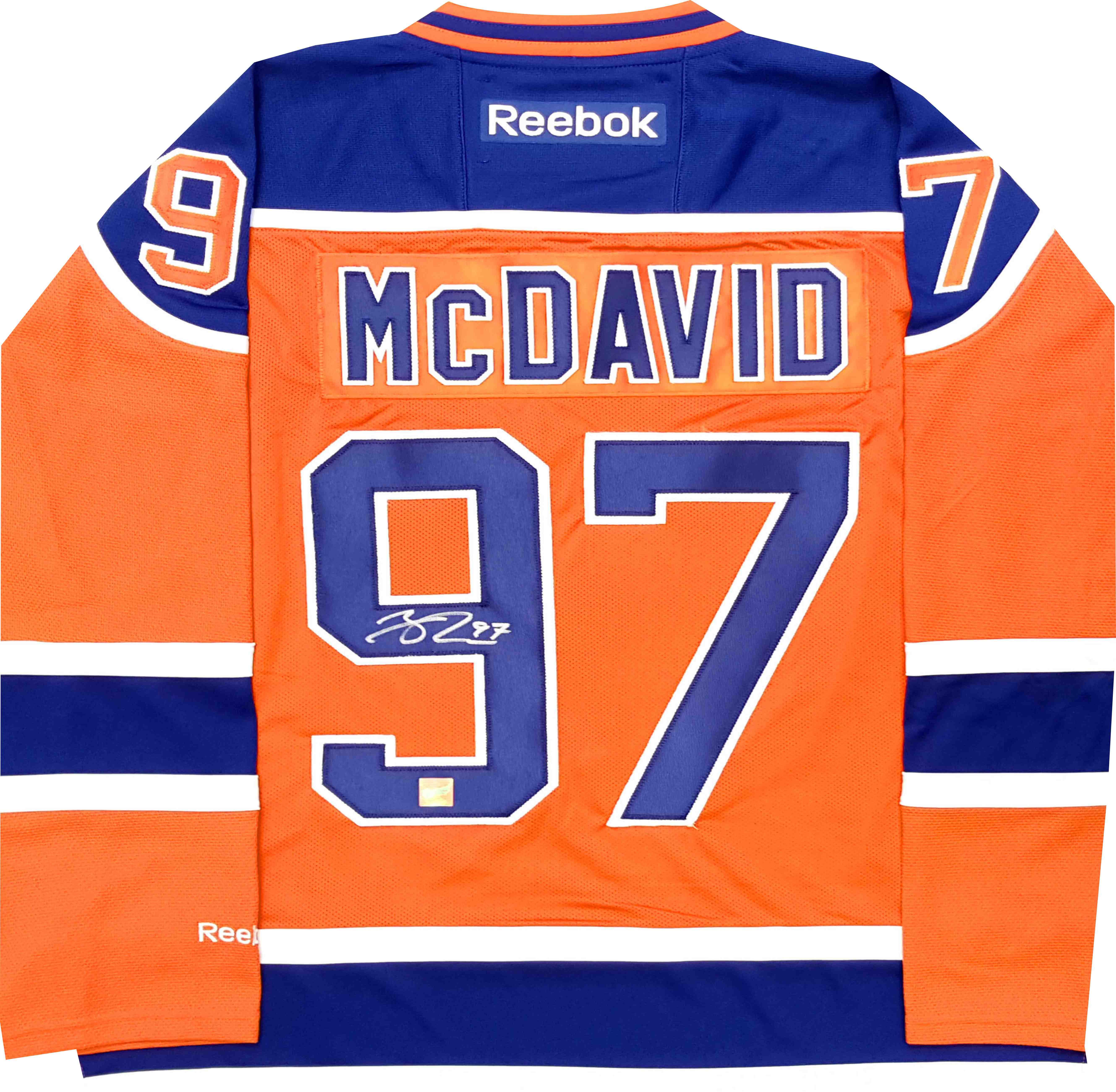 super popular 70110 7f344 Lot Detail - Connor McDavid - Signed Edmonton Oilers Replica ...