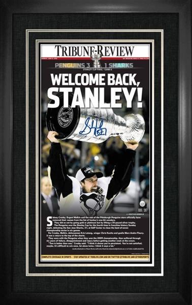 Lot Detail Sidney Crosby Signed Amp Framed Penguins