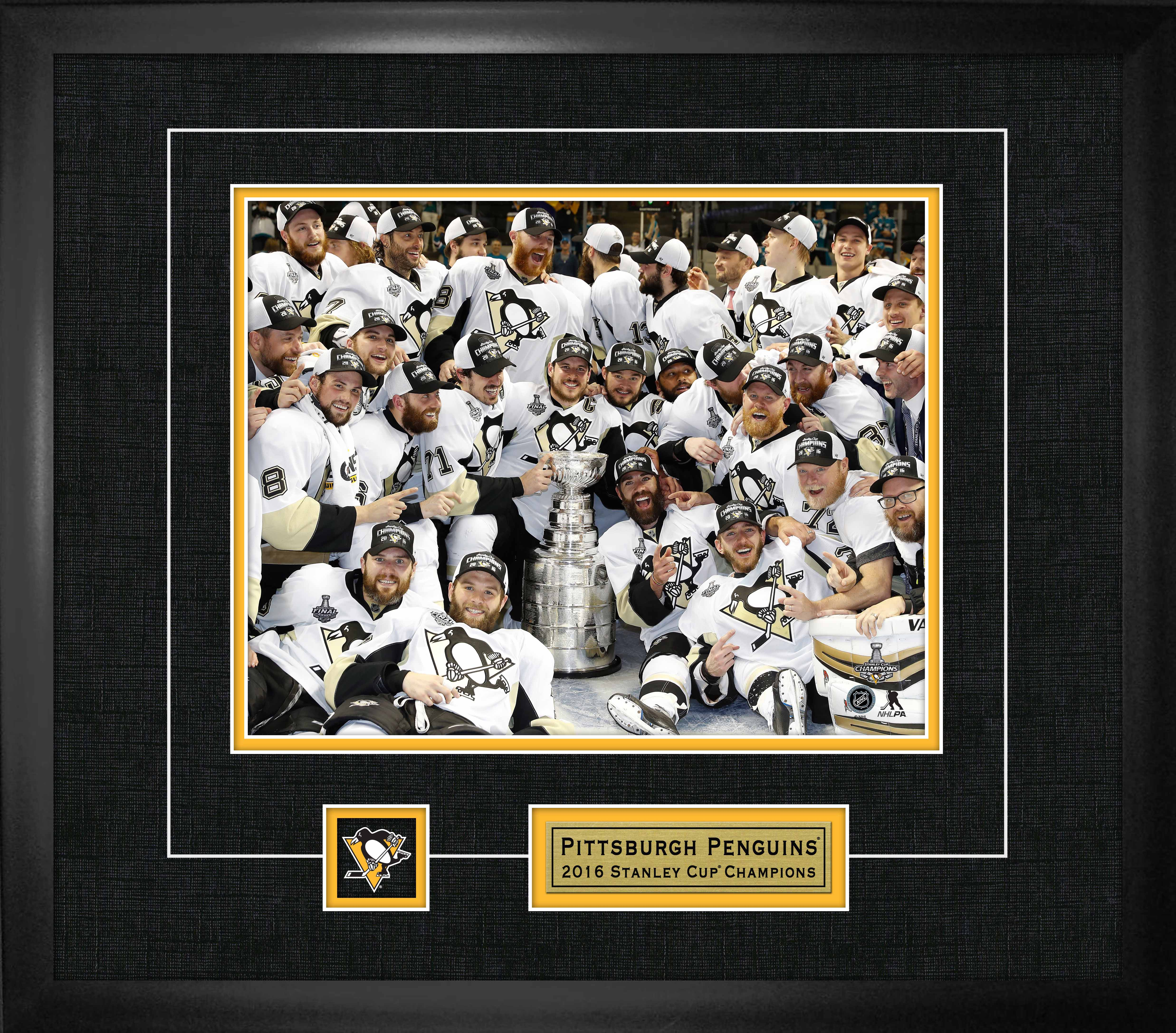 best website 70747 ff9cd Lot Detail - Pittsburgh Penguins - Framed 8x10
