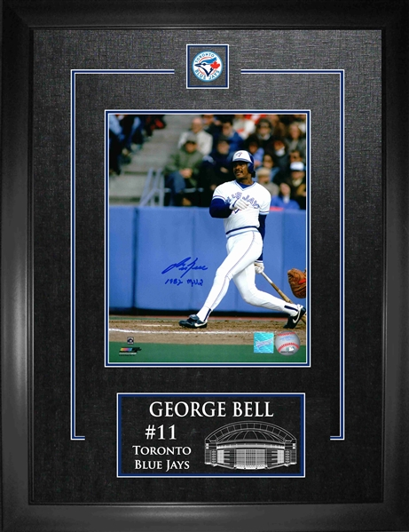 Lot Detail George Bell Signed 8x10 Quot Etched Mat Blue
