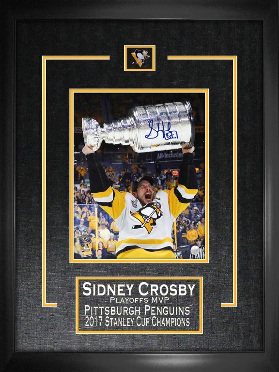 Lot Detail Sidney Crosby Signed Amp Framed 8x10 Quot Etched