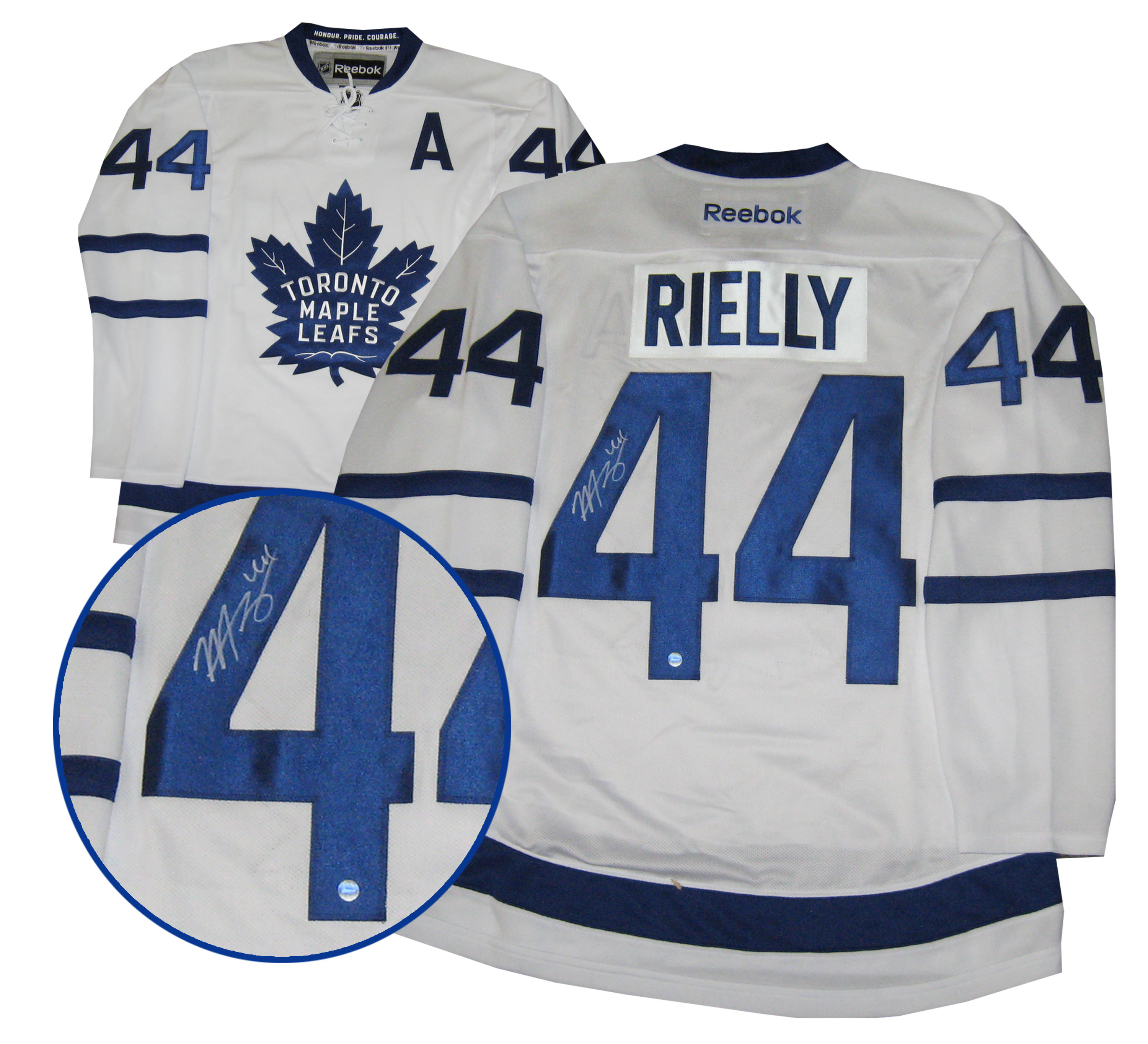 huge selection of 9f729 5834b Lot Detail - Morgan Rielly - Signed Jersey Replica Leafs ...