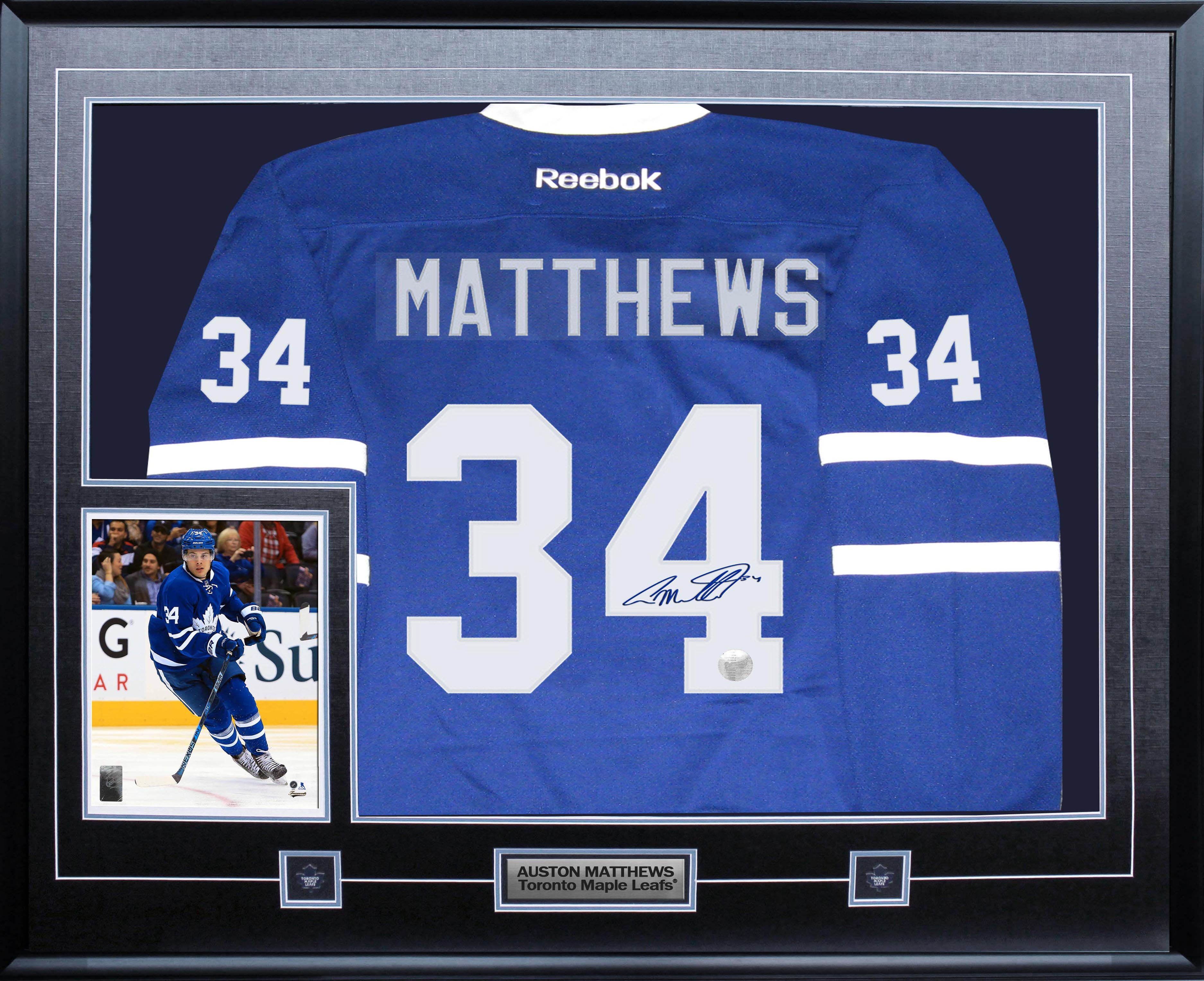 huge selection of 0c76a 238b1 Lot Detail - Auston Matthews - Signed Jersey Framed Toronto ...