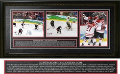 "Sidney Crosby - Signed & Framed Triple 8x10"" Team Canada 2010 The Golden Goal"