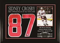 "Sidney Crosby - Signed Numbers Framed 2007 All Star Featuring 8x10"" Photo"
