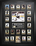 "Sidney Crosby - Signed & Framed 8x10"" Penguins w/ Rookie Season Card Set And Piece of Net"