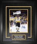 "Sidney Crosby - Signed & Framed 16x20"" Etched Mat Penguins 2017 Raising Cup"