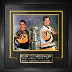 "Sidney Crosby & Evgeni Malkin - Dual-Signed & Framed 16x20"" Etched Mat Back to Back Champions"