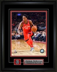 DeMar DeRozan 8x10 Framed Photo with Toronto Raptors Pin and Logo Plate