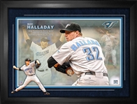 Roy Halladay Toronto Blue Jays Framed Career Photo Collage…