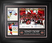 "Sidney Crosby - Signed & Framed 16x20"" Team Canada 2014 Gold Celebration With 2 8x10"" Photos"