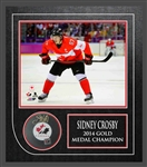 Sidney Crosby - Signed & Framed Puck Canada Featuring Canada 2014 8x10""