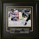 "Sidney Crosby & Henrik Lundqvist - Dual-Signed & Framed 16x20"" with Deluxe Frame"