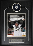 Sidney Crosby - Signed & Framed Puck Penguins Framed Featuring 2016 Cup 8x10""