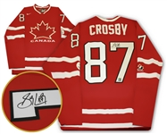 Sidney Crosby - Signed Replica Canada 2010 Olympics Red Jersey