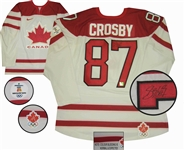 Sidney Crosby - Signed Game Model Team Canada 2010 Olympics White Jersey