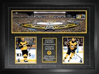 "Sidney Crosby & Evgeni Malkin - Signed & Framed 8x10""s Penguins 2017 Stadium Series with Official Blakeway Panoramic Stadium Image"