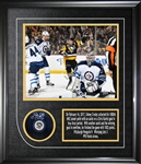 "Sidney Crosby - Signed & Framed Puck Pittsburgh Penguins Featuring 8x10"" 1000th Point"