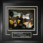 "Sidney Crosby & Mario Lemieux - Dual Signed & Framed 16x20"" with Deluxe Frame - Frameworth Exclusive Item"