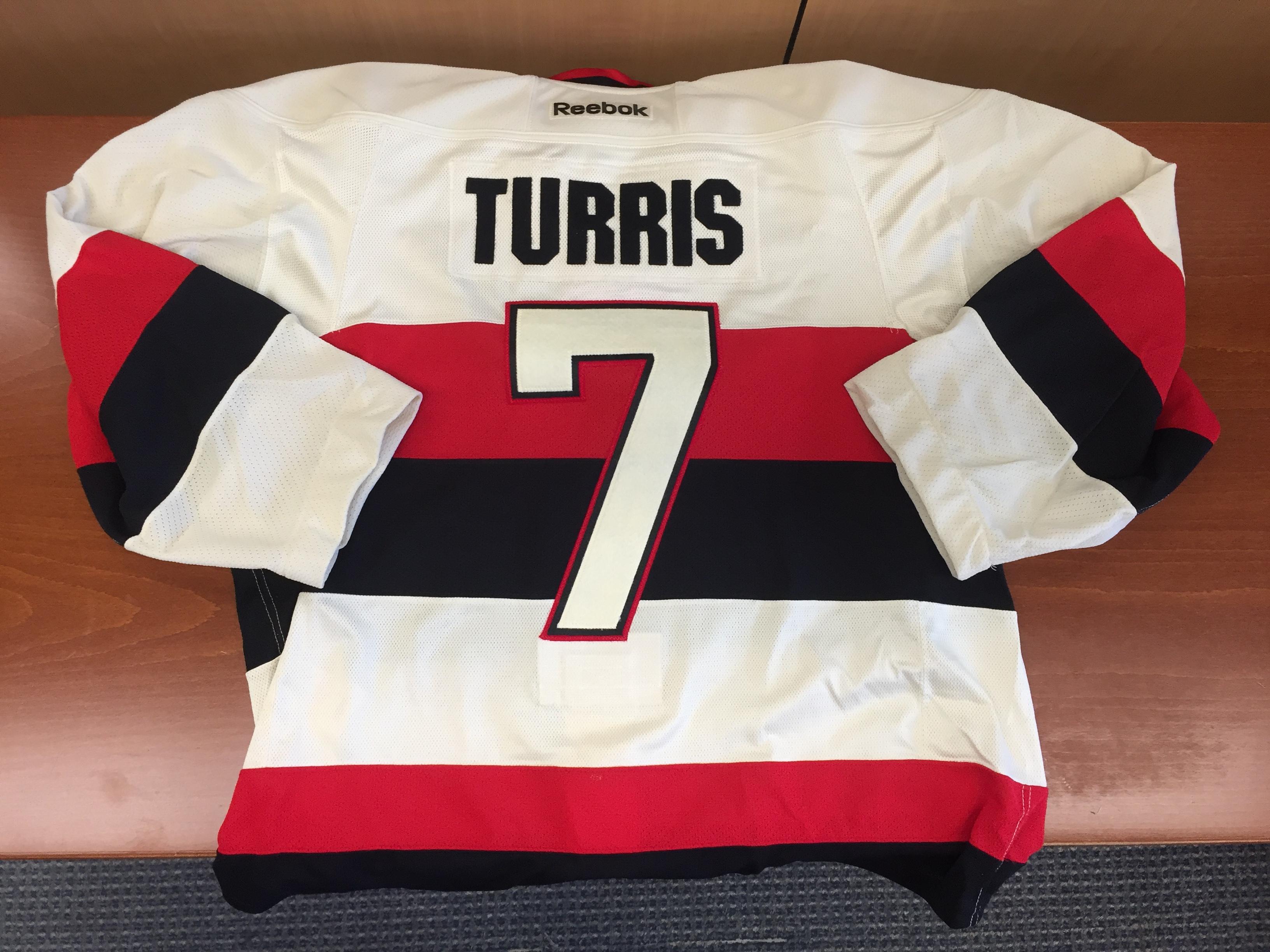buy popular 7f28d 45d4a Lot Detail - Kyle Turris - Game Used Ottawa Senators ...