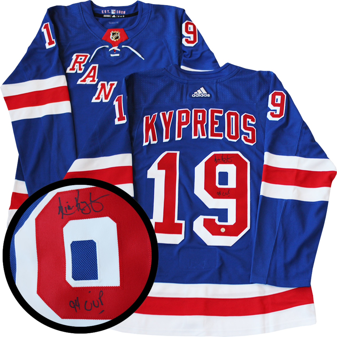 best website 50289 285a1 Lot Detail - Nick Kypreos Signed Jersey New York Rangers ...