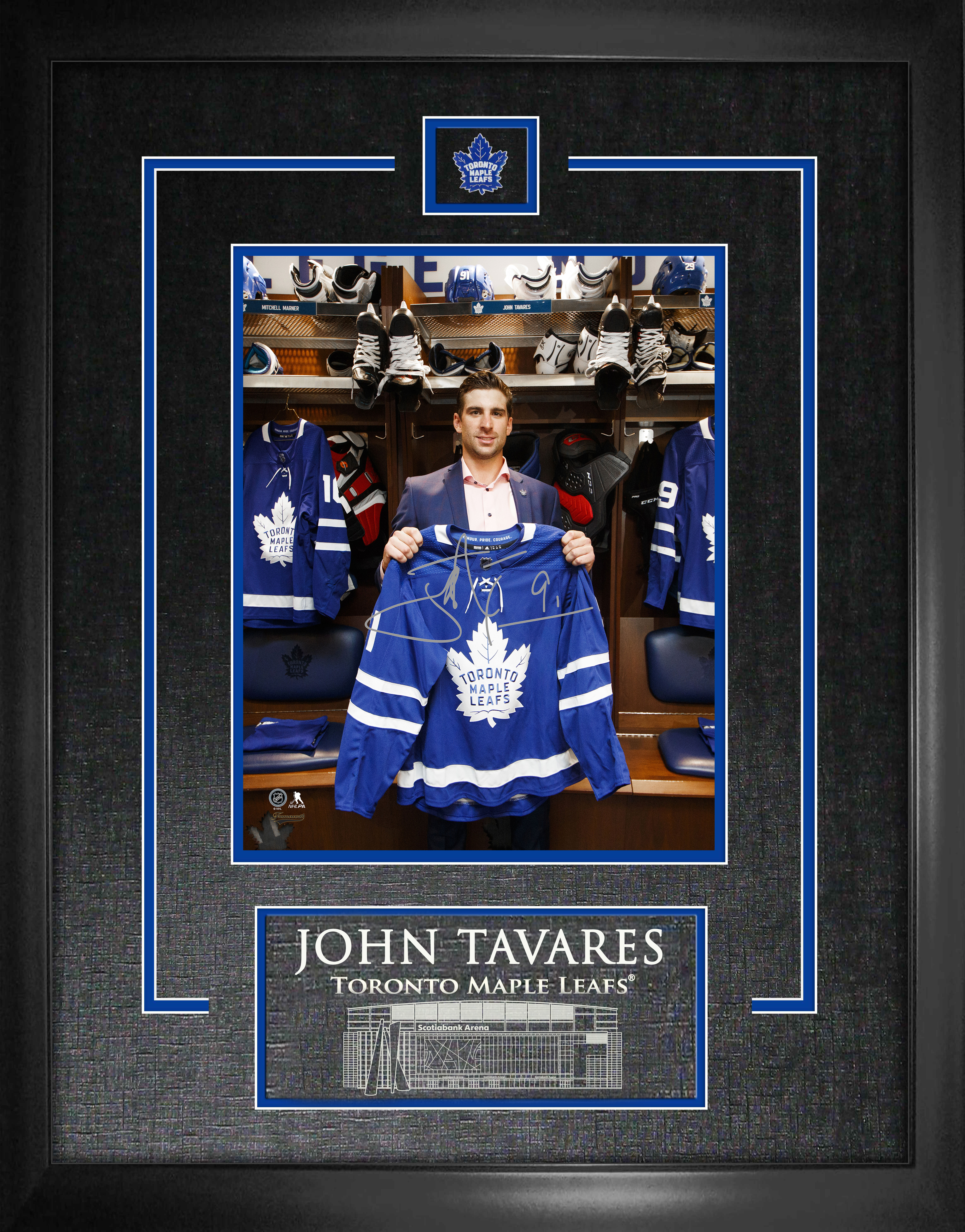 huge selection of 5312e ea7bb Item Detail - John Tavares Signed 8x10 Etched Mat Toronto ...