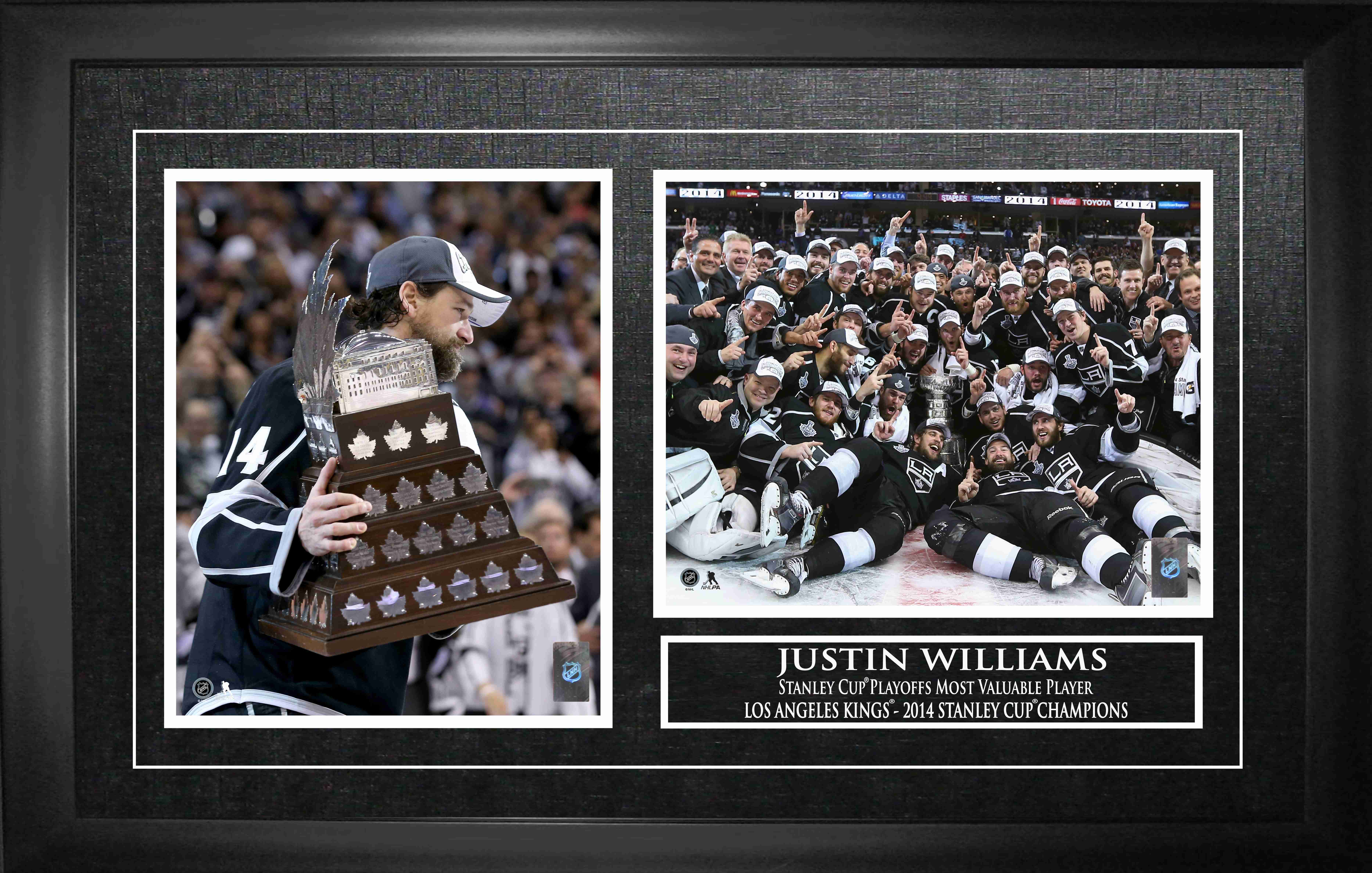Justin Williams Framed Double 8x10 Photo LA Kings 2014 Stanley Cup MVP
