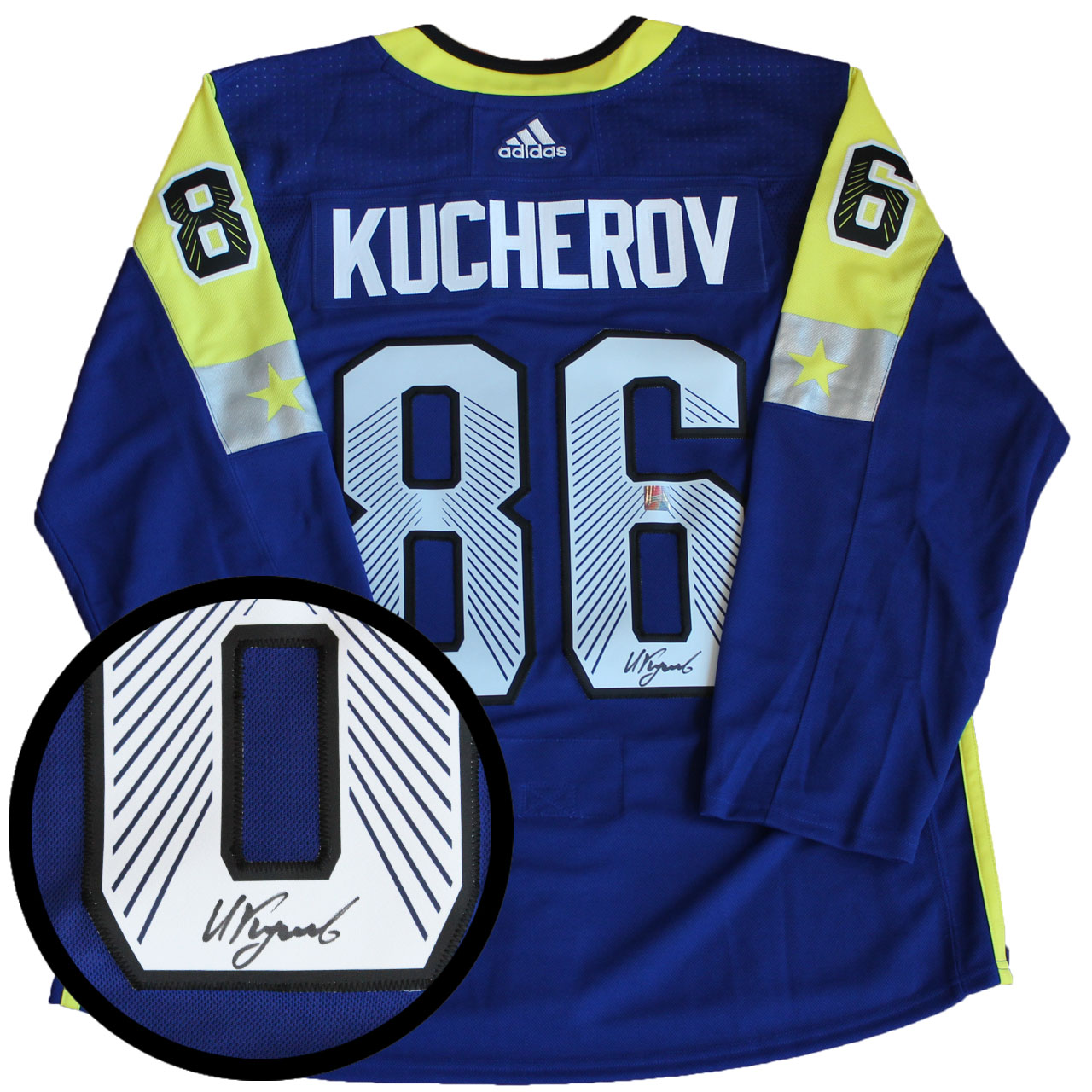 promo code c7cbc c7be1 Lot Detail - Nikita Kucherov Signed Jersey All-Star Pro Blue ...