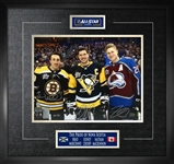 "Sidney Crosby / Nathan MacKinnon / Brad Marchand Signed 11x14"" Framed 2018 All-Star"