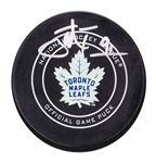 John Tavares Signed Puck Official Game Model Toronto Maple Leafs