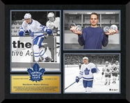 Auston Matthews Triple Photo Framed Collage Leafs First Game