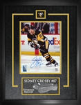 "Sidney Crosby Signed 8x10"" Etched Mat Penguins Skating Head Up"