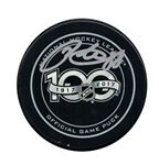 Patrick Kane Signed Puck NHL 100th Anniversary Official Game Puck