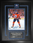 "Leon Draisaitl Signed 8x10"" Etched Mat Oilers"