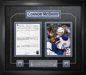 Connor McDavid Framed First Goal Scoresheet Collage