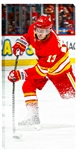 "Johnny Gaudreau 14x28"" Canvas Calgary Flames Red Action"