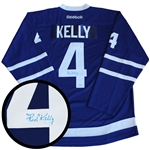 Red Kelly, Signed Jersey Leafs Blue Replica 2016-2017 Reebok