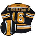 Rick Middleton, Signed Jersey Bruins Black Replica 2016-2017 Reebok