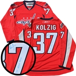 Olaf Kolzig, Signed Jersey Capitals Red Replica 2016-2017 Reebok
