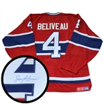 Jean Beliveau, Signed Jersey Canadiens Red Pro Vintage CCM