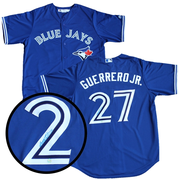 Vladimir Guerrero Jr. Signed Jersey Blue Jays Blue Replica - Montreal Series