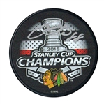 Patrick Kane Signed Puck Blackhawks 2015 Stanley Cup Champions