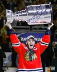 Jonathan Toews, Signed 8x10 Unframed Blackhawks 2015 Raising The Cup