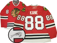 Patrick Kane, Signed Jersey Blackhawks Red Replica Reebok