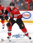 Matt Duchene, Signed 8x10 Unframed Senators Red Action