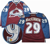 Nathan MacKinnon, Signed Jersey Avalanche Burgundy Replica 2013-2014 Reebok