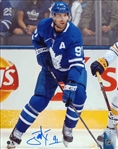 John Tavares, Signed 8x10 Unframed Maple Leafs Action vs Buffalo